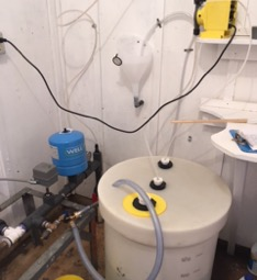 Chlorination at the well site, to 1 part per million